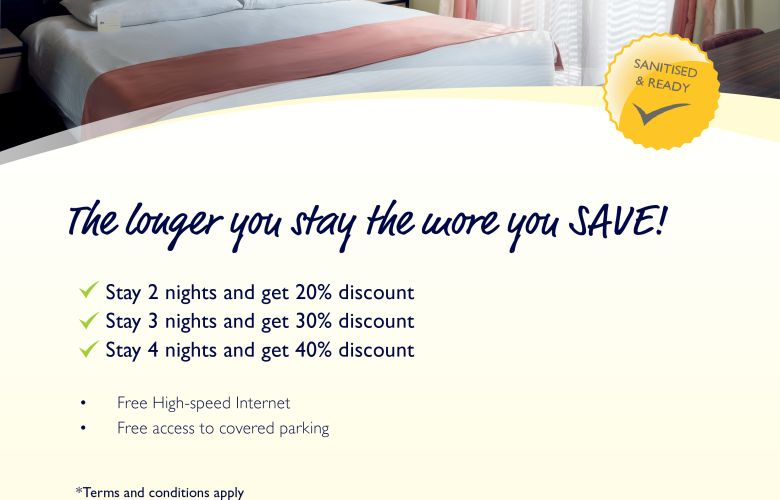 The longer you stay the more you save!